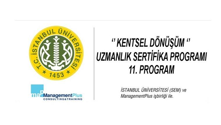 Kentsel dönüşüm uzmanlık sertifika 11. programı başlıyor