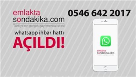 Emlaktasondakika WhatsApp İhbar Hattı açıldı!