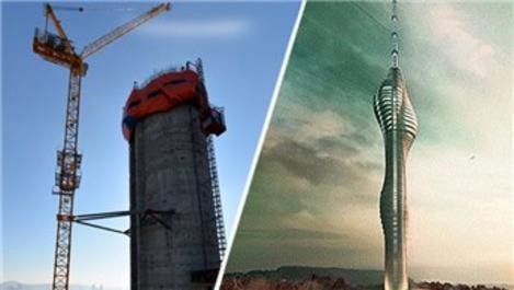 Çamlıca TV-Radyo Kulesi 128 metreye ulaştı