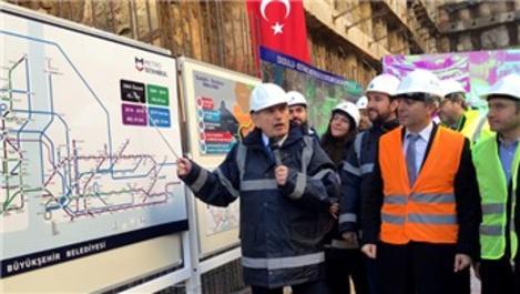 Dudullu-Bostancı Metrosu tünel çalışmaları başladı