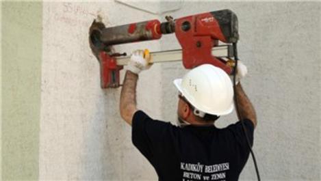Binaların beton kalitesi Beton Zemin Laboratuvarı'nda inceleniyor