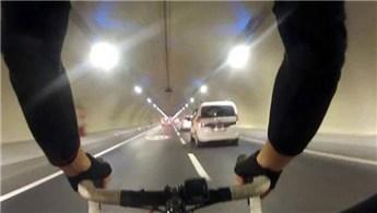 Avrasya Tüneli'nden bisikletli geçen genç gözaltında
