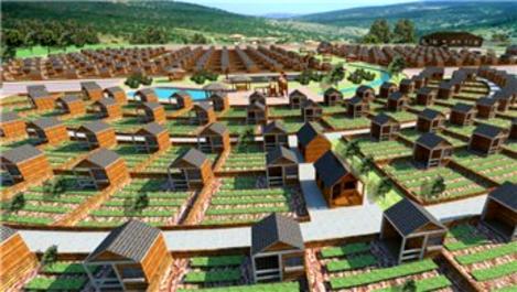 Antalya'daki hobi evlerinin inşası sürüyor
