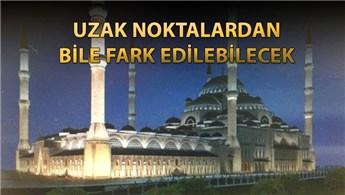 Çamlıca Camisi'ne özel aydınlatma