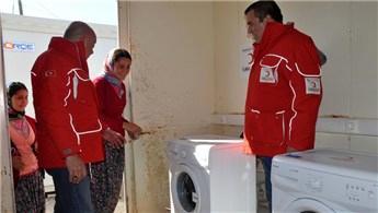 Çanakkale'de deprem bölgesinde çamaşırhane kuruldu!