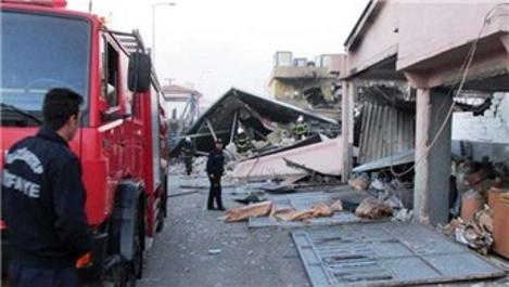 Gaziantep'te lastik atölyesinde patlama!