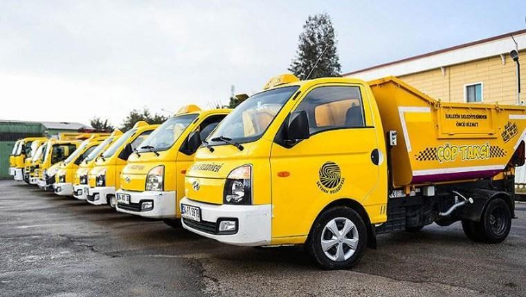 Adana'da çöpler 'çöp taksi' ile toplanıyor