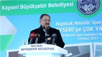 Bakan Özhaseki, Kayseri'de temel atma törenine katıldı