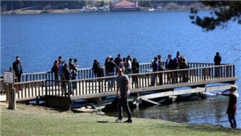Abant Tabiat Parkı bahar yoğunluğu yaşanıyor