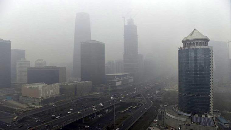 Çin'de hava kirliliği nedeniyle inşaatlar yapılamıyor!