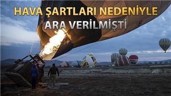 Kapadokya'da balon turları yeniden başladı!