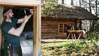Hayalindeki evi 10 bin liraya inşa etti!