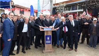 Bursa Orhanveli'de futbol sahaları kuruldu!