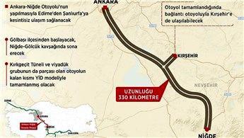 Ankara-Niğde Otoyolu projesine 5 teklif geldi!