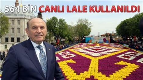 Dünyanın en büyük canlı halısı 3. kez İstanbul'da serildi