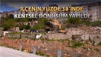 Gaziosmanpaşa'da 11 katlı bina dönüşüm için yıkıldı
