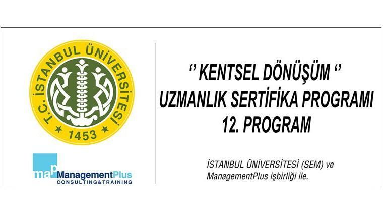 12. Kentsel Dönüşüm Uzmanlık Sertifika Programı başlıyor!