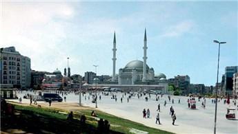 Taksim Camisi'nin inşaatında çalışmalar sürüyor