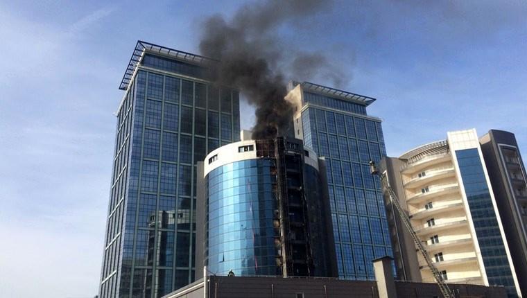 Bursa'da otel inşaatında çıkan yangın söndürüldü