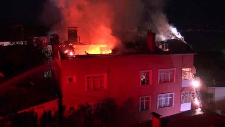 Kocaeli Başiskele'de bir evde yangın çıktı