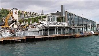 Galatasaray Adası'ndaki tüm yapılaşma yıkıldı
