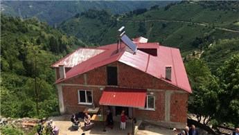 Ordu'da ihtiyaç sahibi aileye tek katlı ev hediye edildi