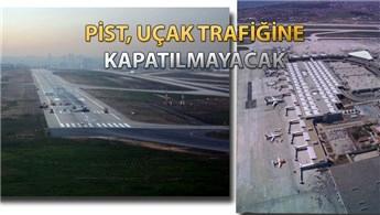 Atatürk Havalimanı'nın pistine 'taş mastik' asfalt!