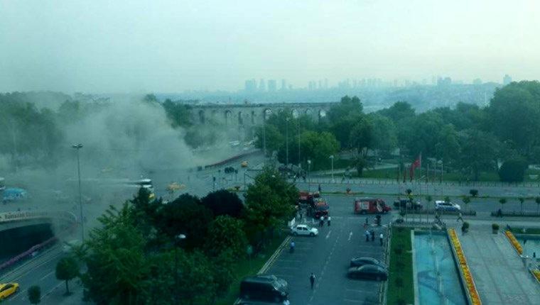 Fatih'teki Bisikletçiler Çarşısı'nda yangın!