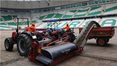 Bursa Stadyumu'nun zemini hibrit çim ile kaplanacak