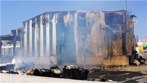 Osmaniye kağıt fabrikasında yangın!