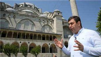 'Süleymaniye Camisi'nin minare harcına elmaslar yerleştirildi'