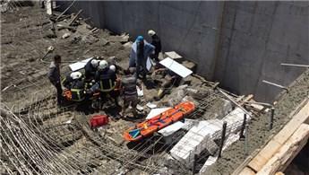 Antalya'da bir inşaatta göçük meydana geldi