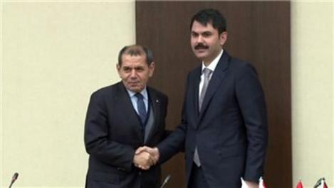 Murat Kurum ve Dursun Özbek Riva ihalesini değerlendirdi