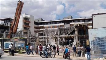 Konya'daki inşaatta göçük meydana geldi