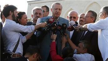 Cumhurbaşkanı Erdoğan namazını Mimar Sinan Camisi'nde kıldı