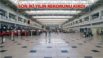 Antalya Havalimanı 24 saat içinde 140 bin yolcu ağırladı