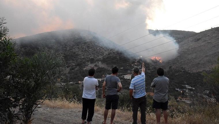 Bodrum'da katı atık depolama alanında yangın!