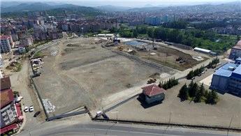 Ordu'da yapılan yeni stadın temel betonu döküldü