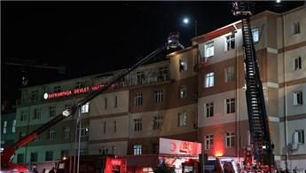 Bayrampaşa Devlet Hastanesi'nde yangın çıktı