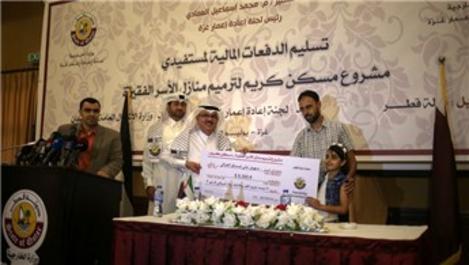 Katar Gazze'de 'Onurlu konut' projesini hayata geçirdi