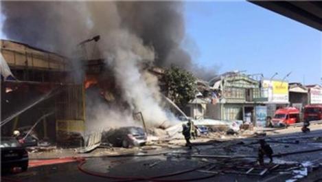 Samsun'daki Gülsan Sanayi Sitesi'nde patlama