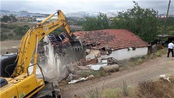 Kocaeli Gebze'de kentsel dönüşüm için 26 ev yıkıldı