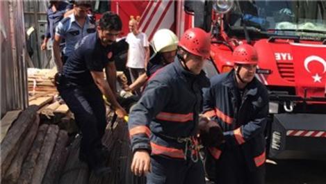 Kağıthane'de bir inşaatın asansör boşluğuna işçi düştü