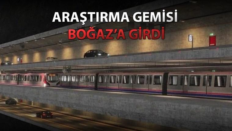 Büyük İstanbul Tüneli'nin zemin etüdü başladı