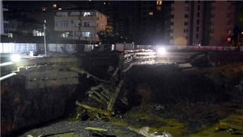 Sancaktepe'de bir inşaatta toprak kayması meydana geldi