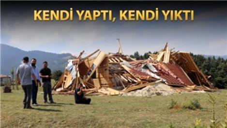 Bolu'daki kaçak yayla evine yıkım kararı!