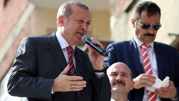 Cumhurbaşkanı Erdoğan, Trabzon'daki teleferik inşaatını inceledi