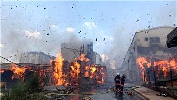 Halkalı'daki fabrikada yangın çıktı!