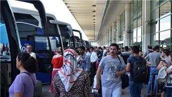 'Otobüs biletlerine yoğun rağbet var'