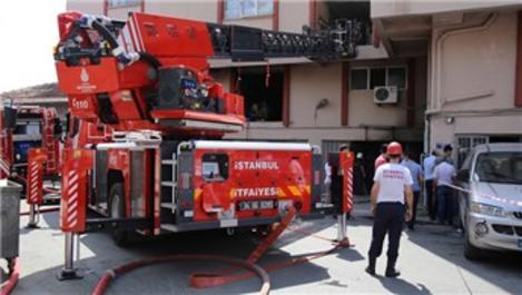 Bayrampaşa'da tekstil atölyesinde yangın!